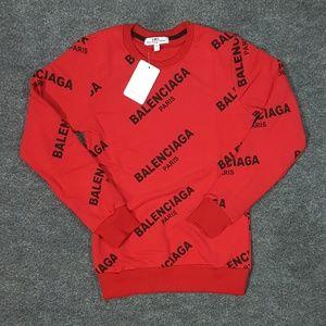 sweatshirt balenciaga red